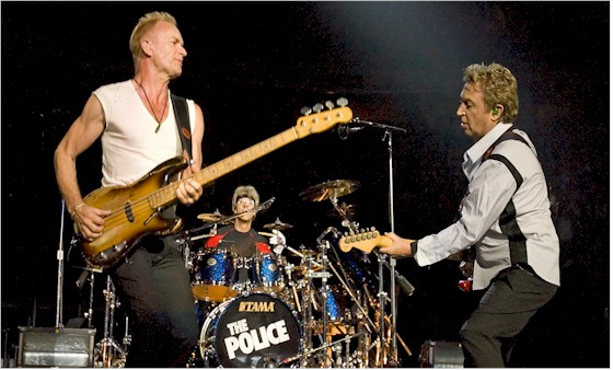 The Police perform music and it sounds good