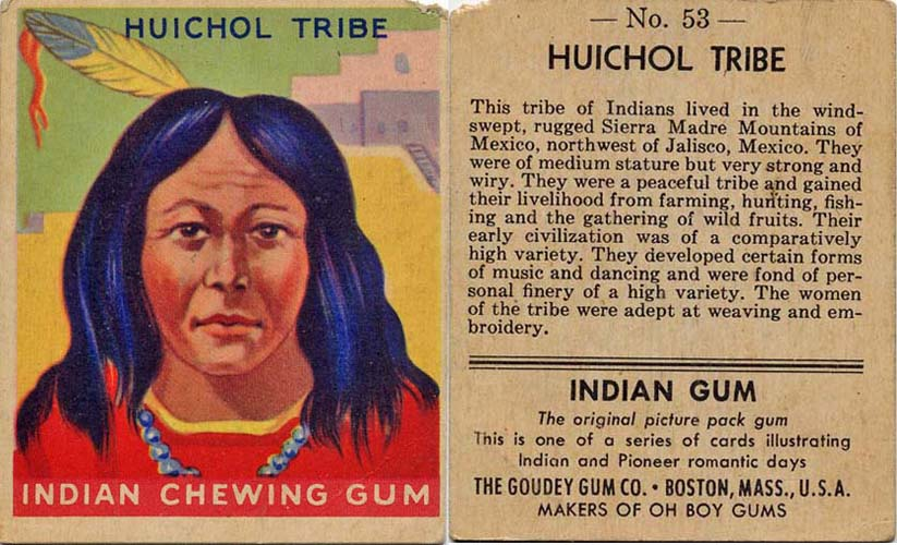 Classic Thanksgiving ephemera – Indian Gum Cards