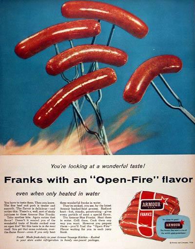 Armour Franks ad (1956)