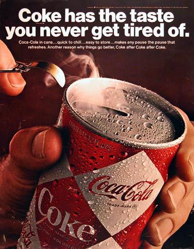 Coca-Cola pull tab soda ad, 1967