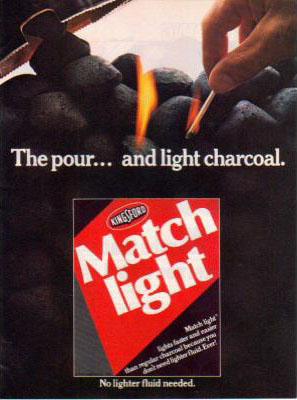 Kingsford Match Light charcoal ad (1981)