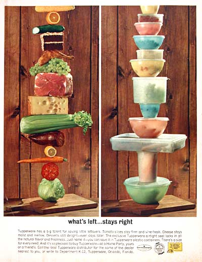 Tupperware ad, 1962