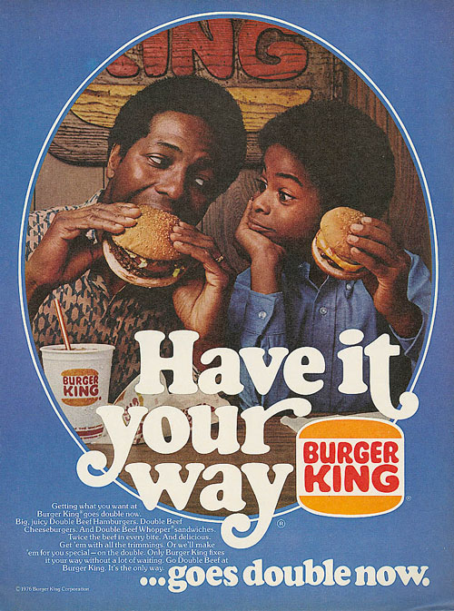 "1976 Burger King ""Have It Your Way"" African-American advertisement"