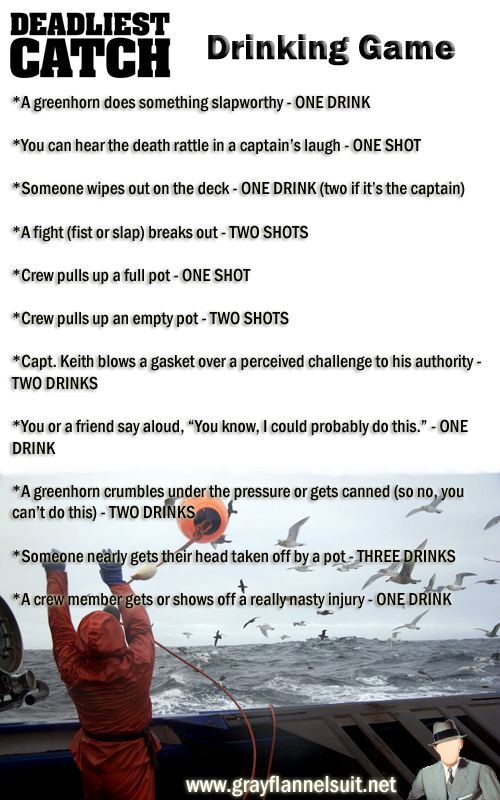 Deadliest Catch drinking game
