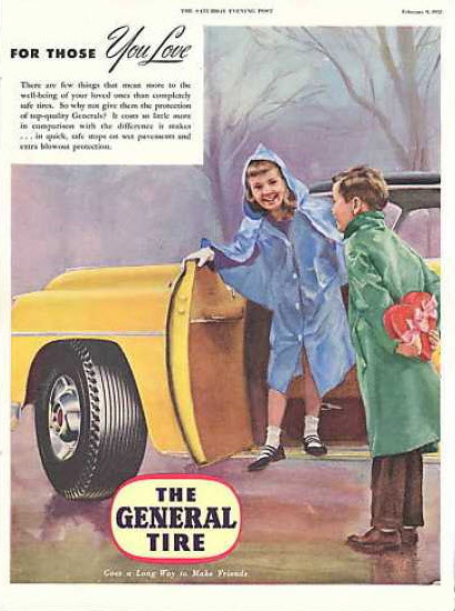 The General Tire Valentine's Day ad, 1952