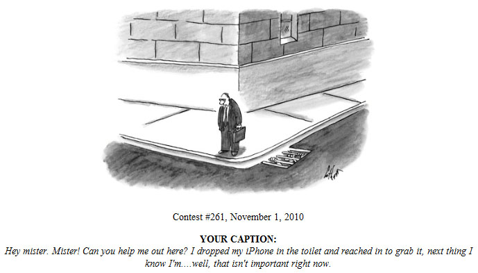 My entry in New Yorker caption contest #261