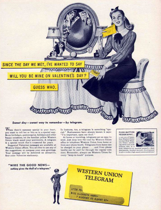 Western Union Telegram, 1948