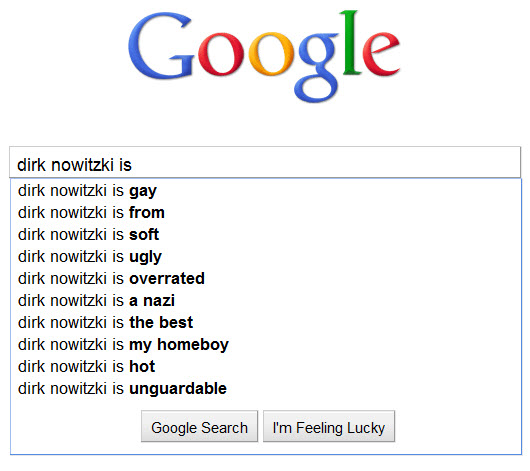 Dirk Nowitzki - How Google sees him