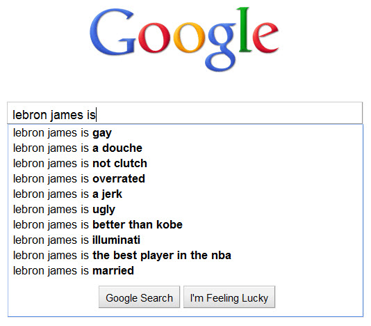 LeBron James - How Google sees him