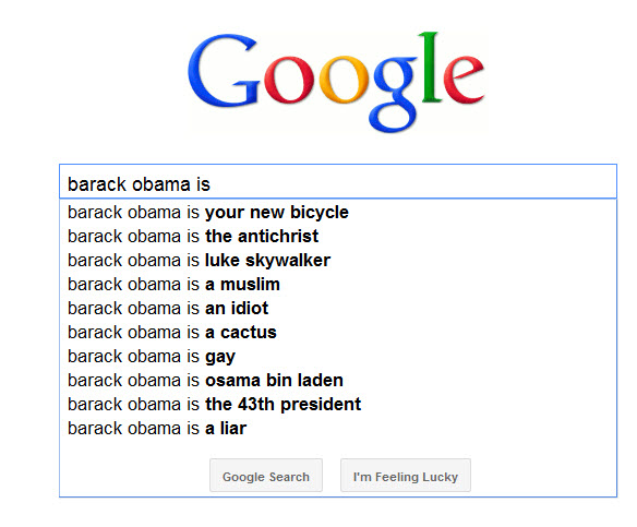 How Google sees it: Barack Obama vs. John Boehner