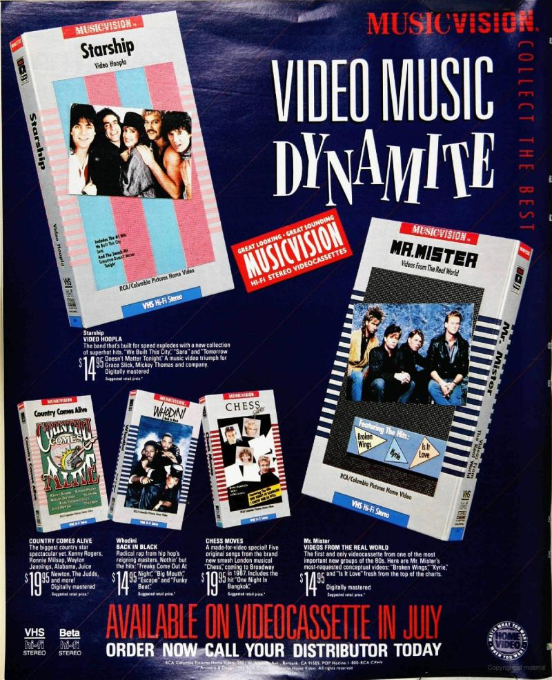 MusicVision print ad - Video Music Dynamite!