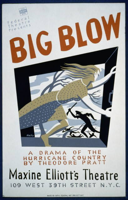 """Big Blow"": A drama of the hurricane country - WPA Poster"