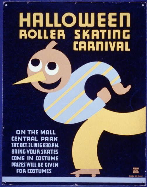 Halloween roller skating carnival - WPA Poster