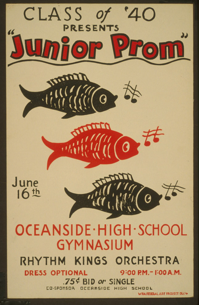 "Class of '40 presents ""Junior prom"" - WPA Poster"