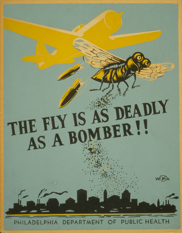 The fly is as deadly as a bomber!! - WPA Poster