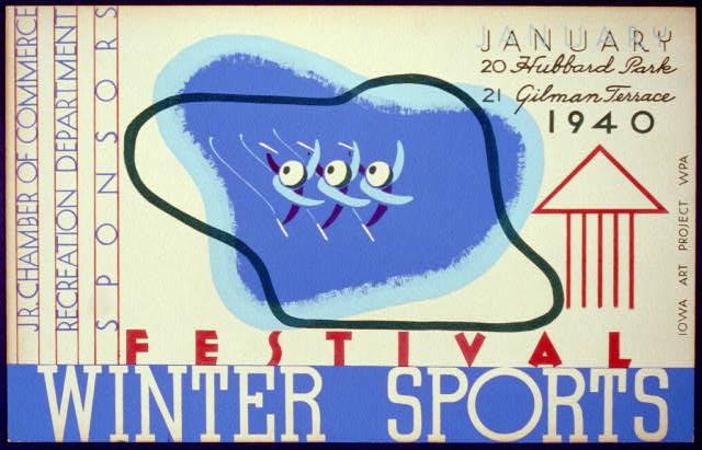 Winter sports festival, Jr. Chamber of Commerce - WPA Poster