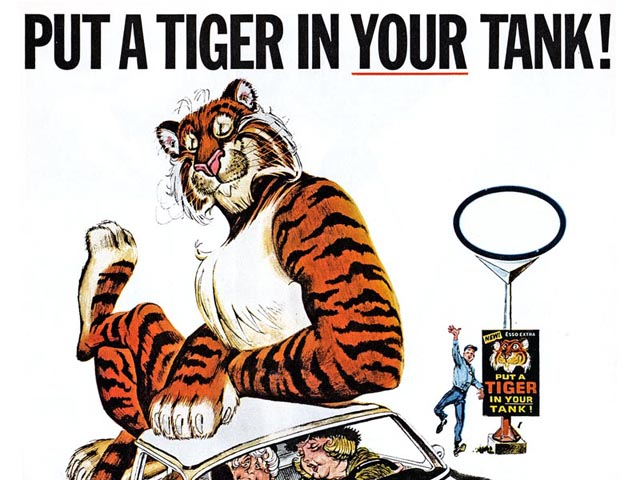 Put a Tiger in Your Tank! slogan