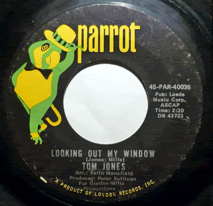 """Looking Out My Window"", Tom Jones - Parrot Records"