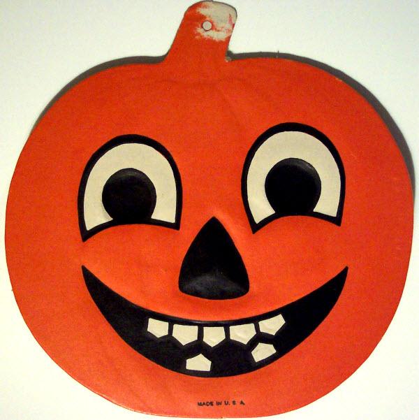 Classic jack-o-lantern - (Vintage Beistle Halloween Decoration)