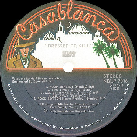 Kiss, Dressed to Kill (Casablanca Records)