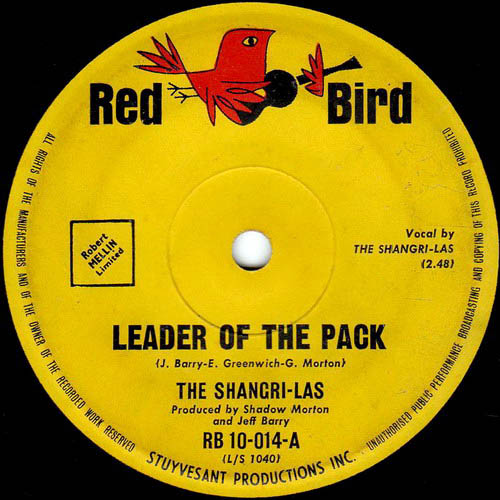 """Leader of the Pack"", The Shangri-Las - Red Bird Records"