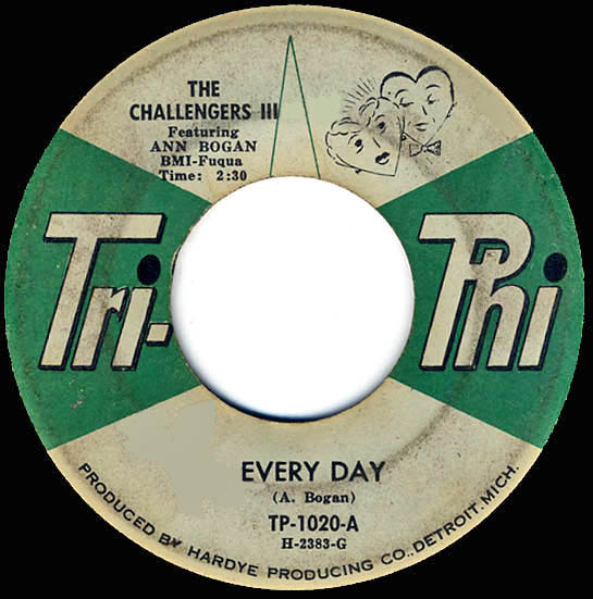 """Every Day"", The Challengers - Tri-Phi Records"
