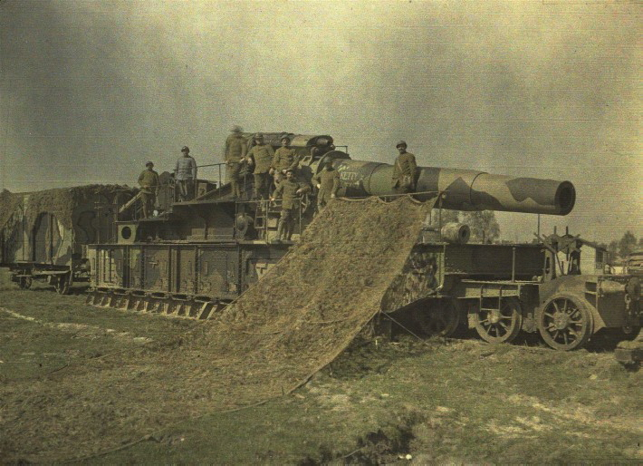 French army railcar seige gun