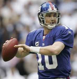 Eli Manning of the New York Giants