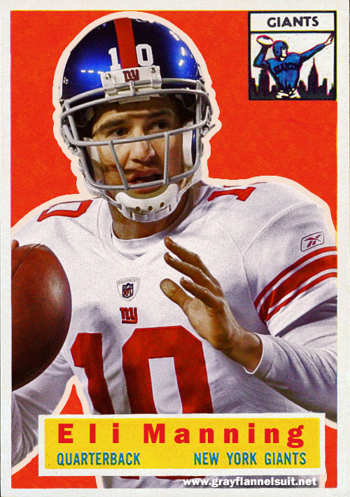 Eli Manning retro football card - 1956 Topps