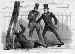 Homicide of P. Barton Key by Daniel E. Sickles
