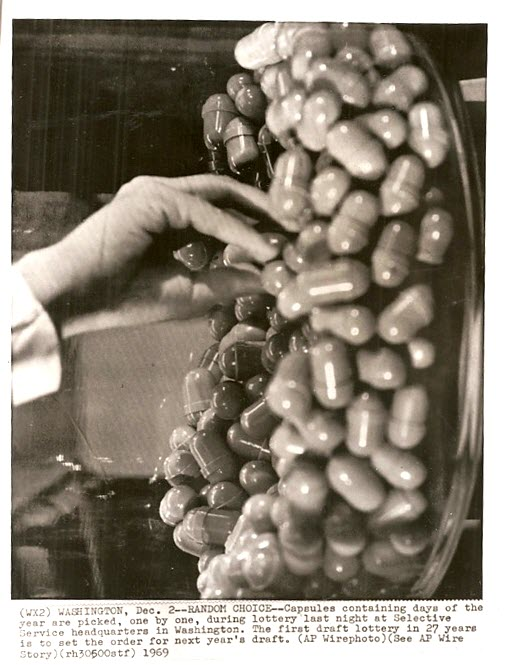 AP Wire Photo, 1969, Selective Service Lottery Draft
