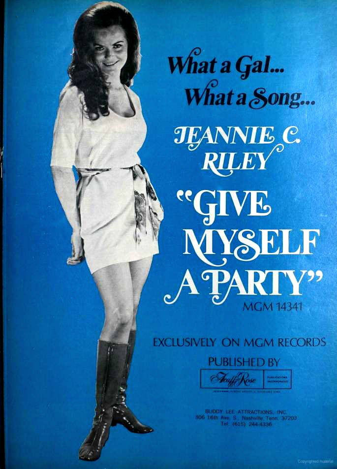 "1972 Billboard magazine ad (Jeannie C. Riley, ""Give Myself a Party"")"