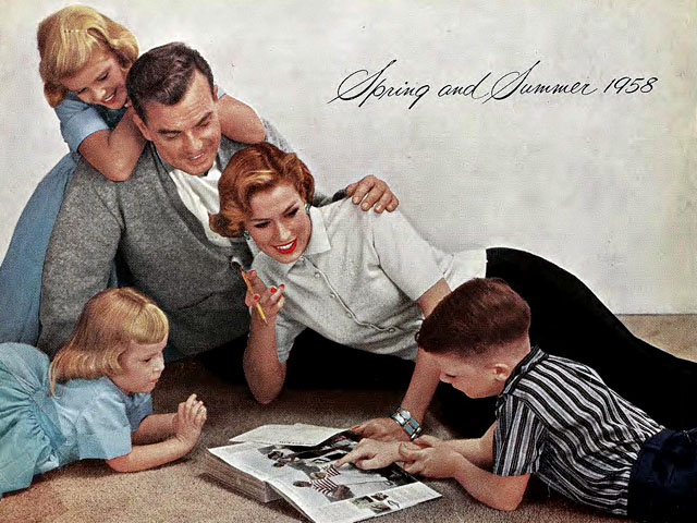 Sears catalog cover, Spring/Summer 1958