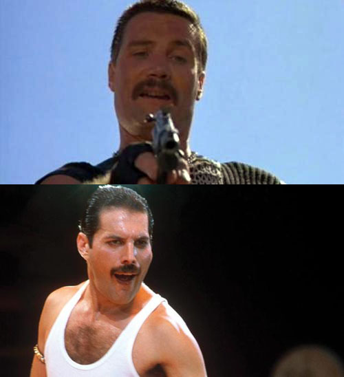 Separated at Birth? (Bennett from 'Commando' and '80s Freddie Mercury)