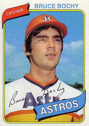 Bruce Bochy, Houston Astros (1980 Topps baseball card)