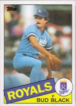 Bud Black, Kansas City Royals (1985 Topps baseball card)