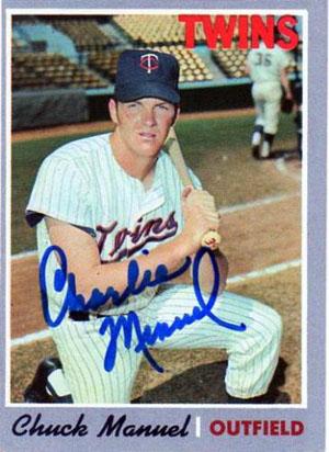 Charlie Manuel, Minnesota Twins (1970 Topps baseball card)