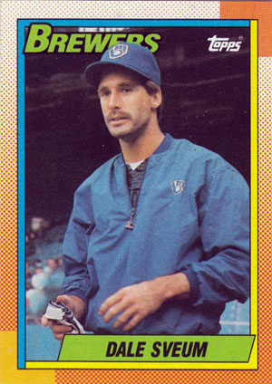 Dale Sveum, Milwaukee Brewers (1990 Topps baseball card)