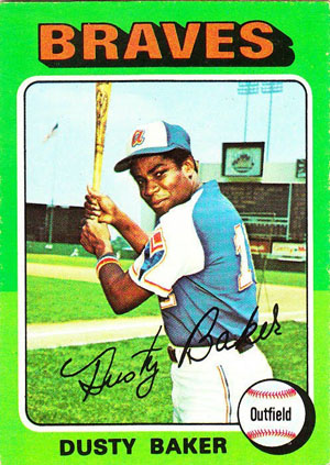 Dusty Baker, Atlanta Braves (1975 Topps baseball card)