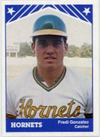 Fredi González, Greensboro Hornets (1983 baseball card)
