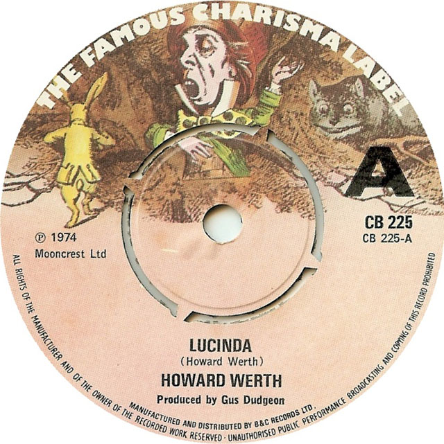 """Lucinda"" by Howard Werth, Charisma Records"