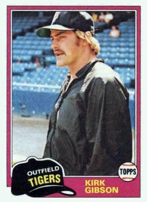 Kirk Gibson, Detroit Tigers (1981 Topps baseball card)
