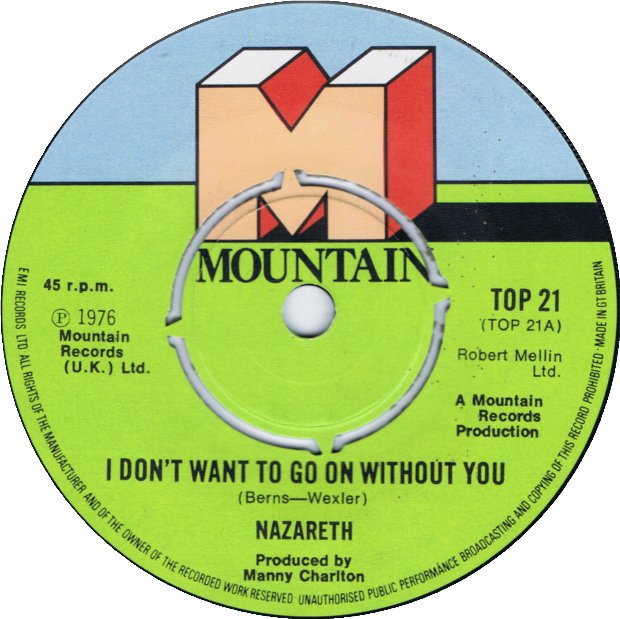 """I Don't Want to Go On Without You"" by Nazareth, Mountain Records"