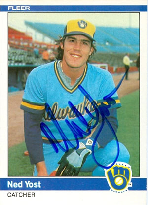 Ned Yost, Milwaukee Brewers (1984 Fleer baseball card)