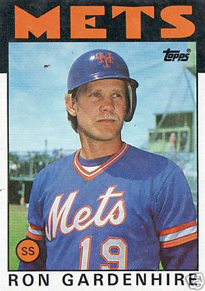 Ron Gardenhire, New York Mets (1986 Topps baseball card)