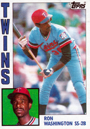 Ron Washington, Minnesota Twins (1984 Topps baseball card)