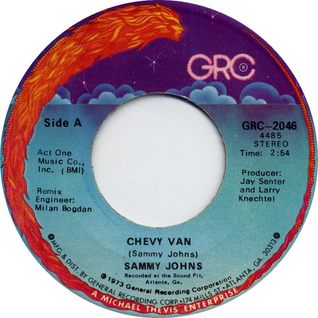 """Chevy Van"" by Sammy Johns, General Recording Corporation (GRC)"