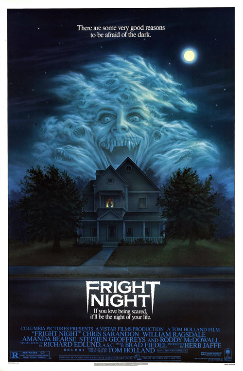 Fright Night (1985) horror movie poster