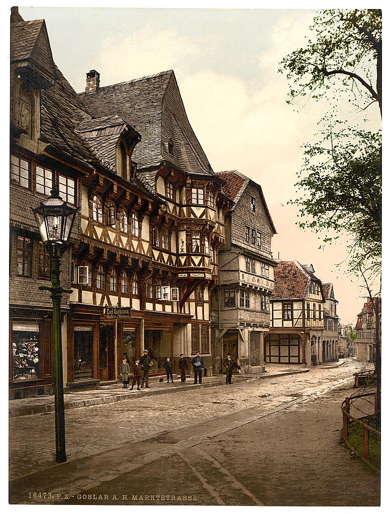 Market Street - Goslar, Hartz, Germany