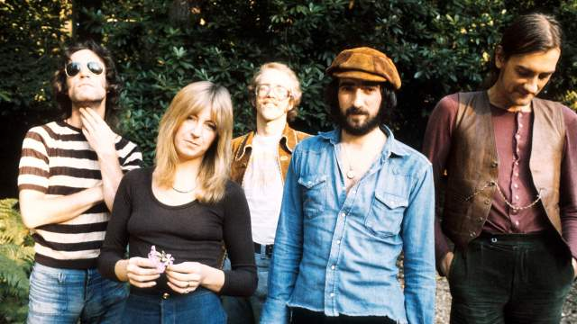 Bob Welch (center) with Fleetwood Mac, 1973